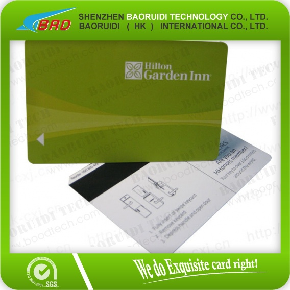 Barcode Printing Hotel Door Lock Plastic Magnetic Stripe Card