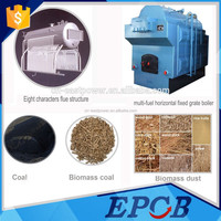 wood and fabric multi-fuel fired fixed grate steam boiler