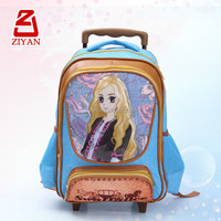 2014 Trend Fashion Beautiful Girl School Trolley Backpack For Children