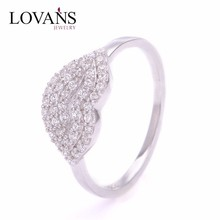 Fashion Jewelry Aaa Crystal Gay Wedding Ring Sexy Lip Ring With Cz FR190-6