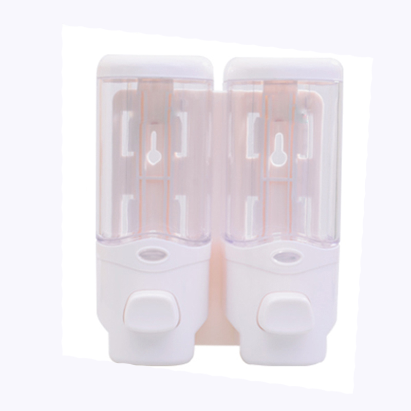 2*350ML Wall Mounted Hotel Soap Dispenser Double Soap Dispenser