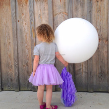 2016 Hot selling 36 inch White color Big Giant Latex Balloon