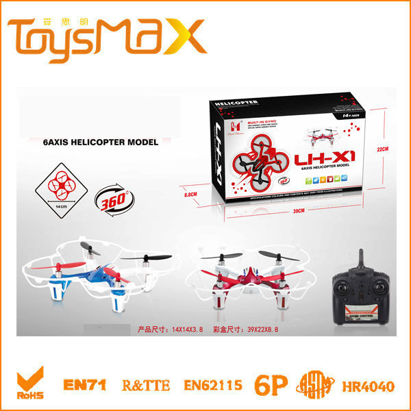 2014 Newest LH-X1 2.4g 4ch rc mini quadcopter long range rc helicopter