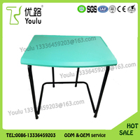 Hot sale PP plastic school furniture table desk and chair