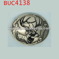 BUC4138 Fashion deer head animal belt buckle