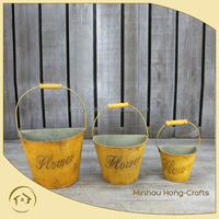Home Decorative and Rustic wrought iron mounted wall planters pots
