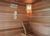 Luxury 4~6 person wooden sauna cabin room with color sauna light