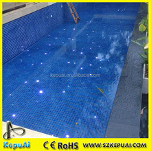 Waterproof fiber optic light led swimming pool light with twinkle stars