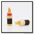 Gold Plated Pure Copper Phono Amplifier Audio Speaker Cable Connector plug Terminal Binding Post