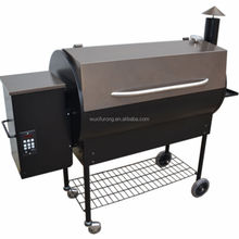 Large Custom Smoker Wood Pellet BBQ Barbecue Grills with Trolley Cart for Camping Outdoor Kitchen Equipment