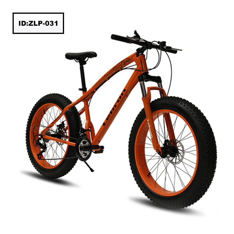 24Inch 26 Inch Fat Tire Snow <strong>Bike</strong> 21 Speed Double Disk Brake Beach Bicycle High Carbon Steel Mountain <strong>Bikes</strong>