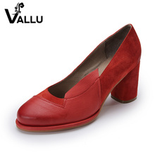2017 Women Pumps Natural Suede Leather Handmade Women Shoes Red High Heel Women Wedding Shoes