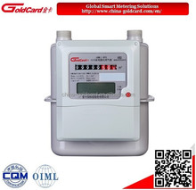 IC card prepaid diaphragm smart gas meter G4