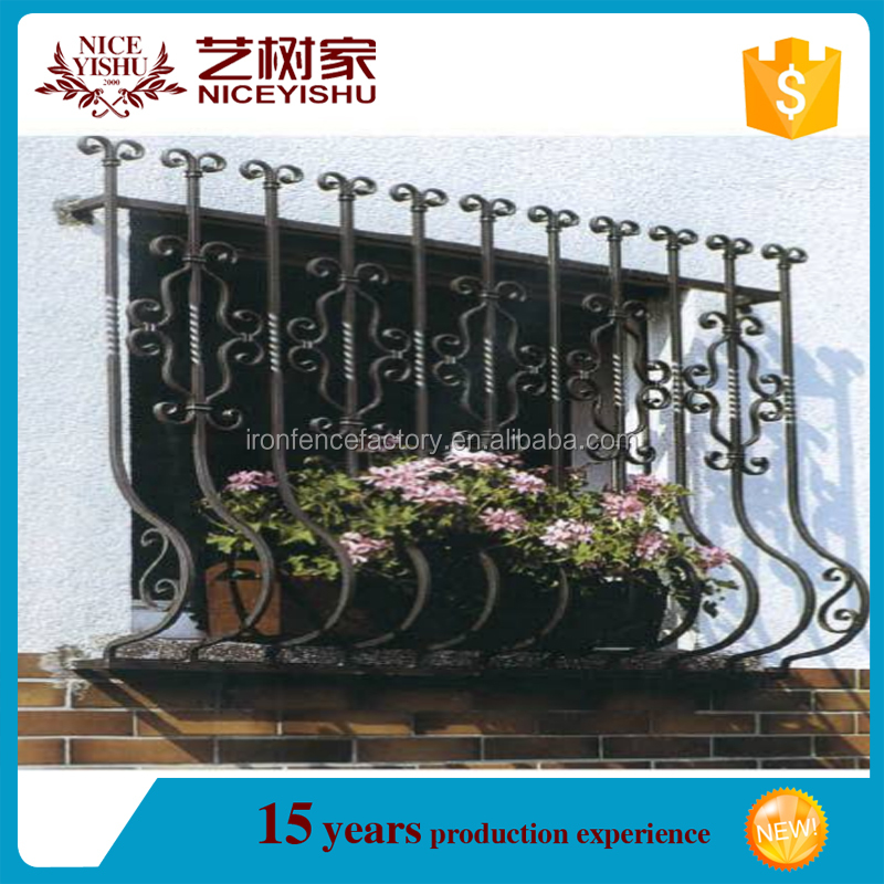 wrought iron outdoor window guards design/decorative window security bars