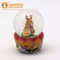 high quality holiday souvenirs 85mm polyresin snow ball for kids