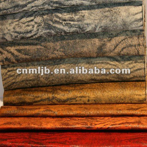100% polyester suede bonded PU lether