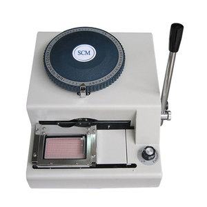 SC-5000 Manual Dog Tag Embossing Machine Embosser for Small Aluminium Materials Plates Product Dog Tag Nameplates