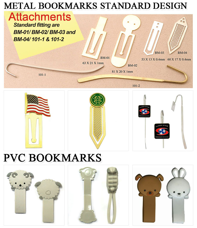 Personalized Paper Clip Cheap Metal Bookmark Blank for Books