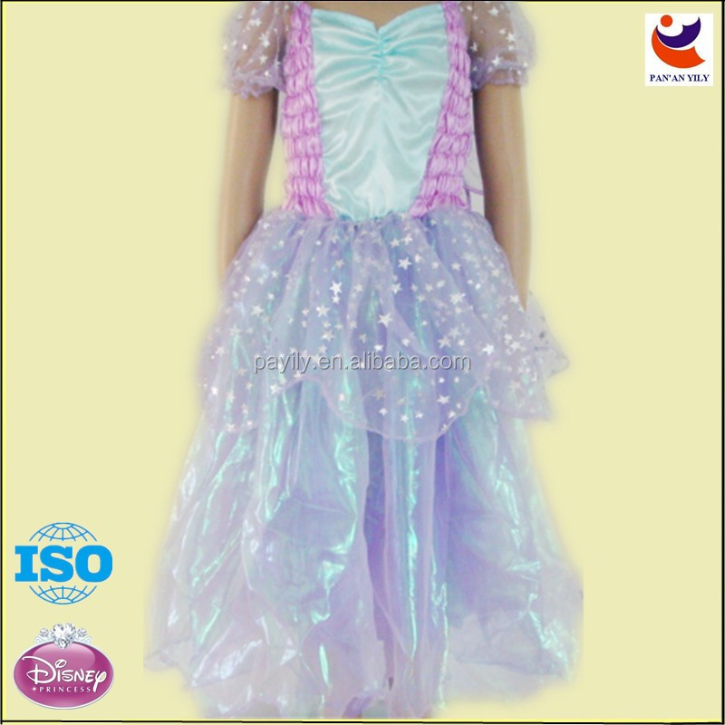 High quality latest children girl dress designs with wing,children party dreses