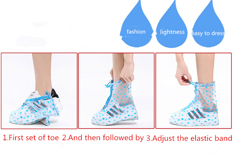Customed Color Reusable PVC Waterproof Rain Boots Covers Rainproof Shoe Covers