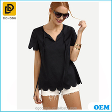 2016 Smart Casual Clothing Ladies young fashionable V -neck Crop Tops made in China
