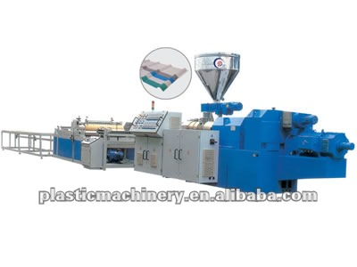 PVC Wave Plate Extrusion Machine(CE plastic machinery)