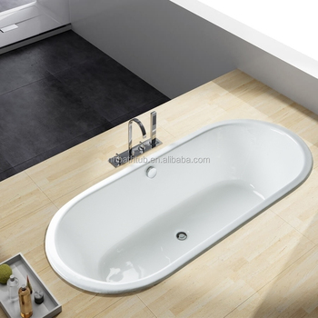 double ended build-in cast iron bathtub