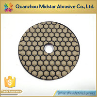 high quality diamond hand stone dry polishing pads