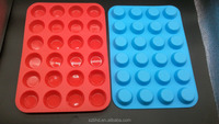 High Quality 24 Mini Round Silicone Muffin Pan