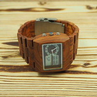 Chinese wholesale custom men wooden handmade watches oem brand watch