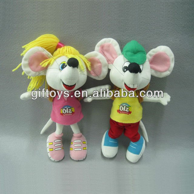 Lovely Fashion Plush Carton Mouse for Boy and Girl