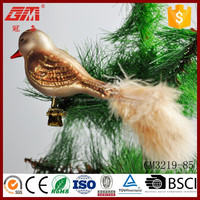 cheap products christmas tree hanging blown decorative glass bird