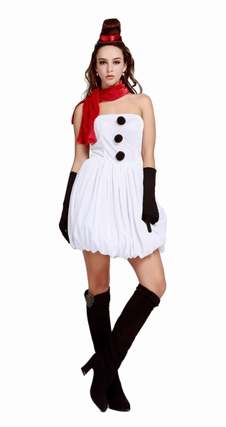 4 pcs white festival cosplays outfits ml8070 free shipping dreamy snow maiden sexy christmas santas dress