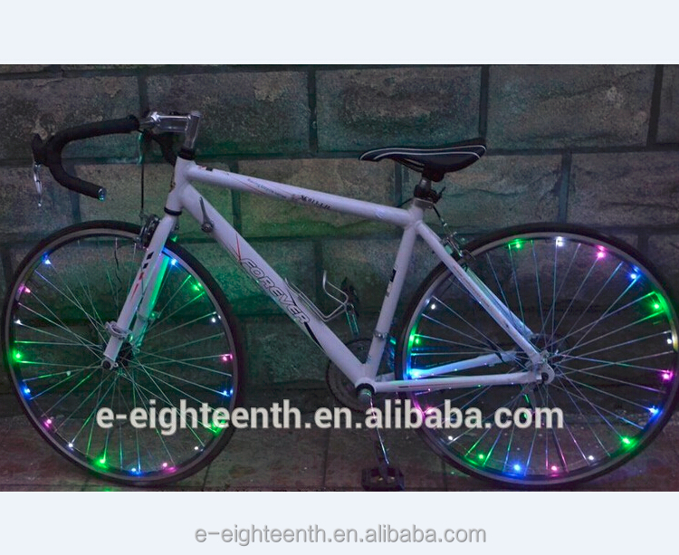 18 Neon LED Bicycle Bike Wire Tyre Wheels Spoke Light String Wire Colorful 2M