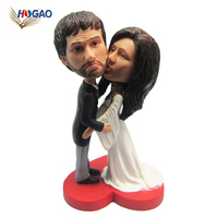 New products OEM funny custom resin wedding gift personal bobble head