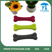 hot new products for 2016 Eco-friendly silicone dog bone pet good chewing toy