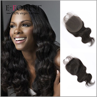 Cheap Sale Virgin Brazilian Human Hair Lace Closure Body Wave Lace Front Closure Piece With Baby Hair