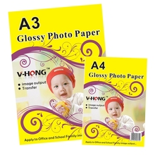 180gsm V-HONG High glossy photo paper yiwu A3 A4 A5 A6 inkjet photo paper
