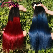 Alibaba <strong>Express</strong> 2 Tones Ombre Human Hair Extensions Brazilian Virgin Hair Weaves Cheap Ombre Hair Products