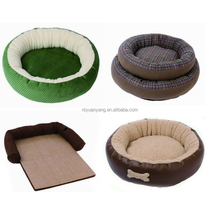 Square orthopedic dog pet bed poly rattan dog bed wooden dog bed