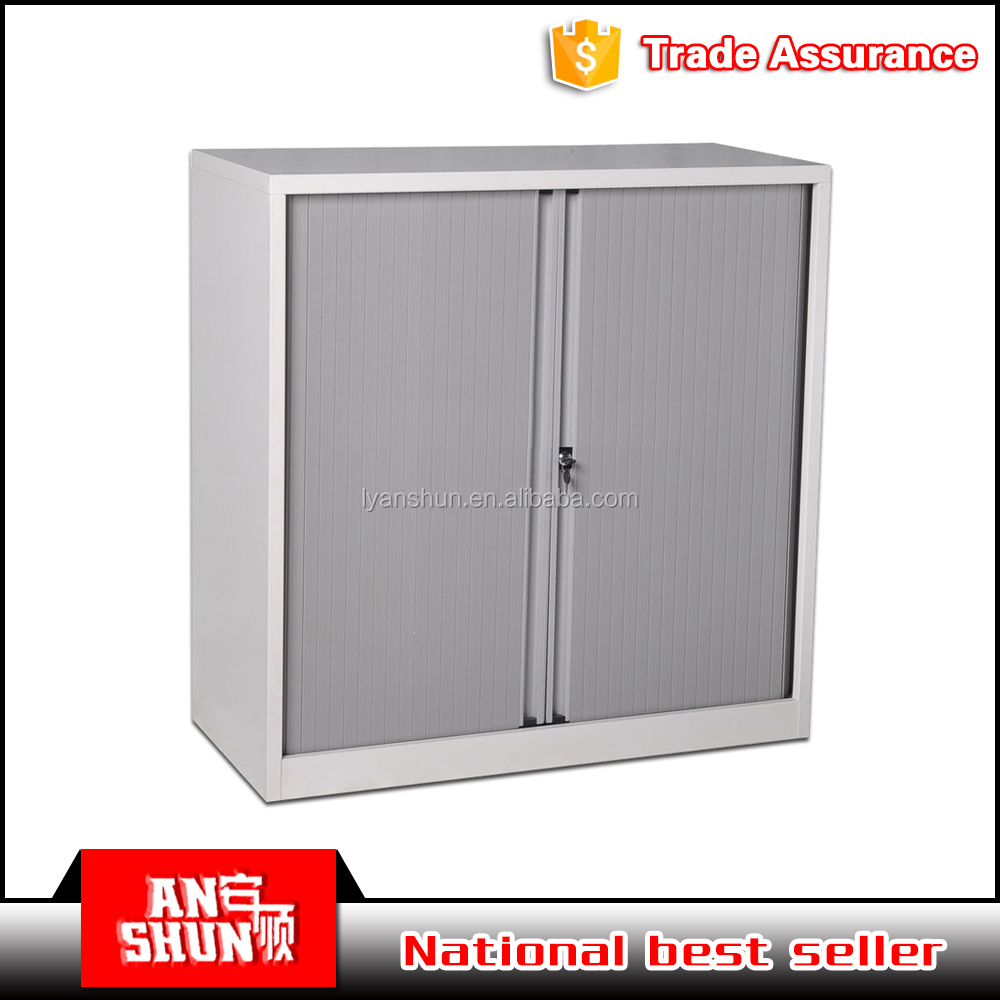 Roller shutter cupboard doors/extendable rolling door storage cabinets/vertical tambour door cabinets with rolling shutter