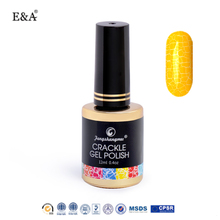 EA factory sell crack gel nail polish professional crackle paint nail gel polish