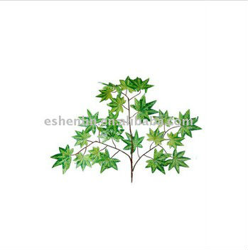 Hot sale artificial blue maple autumn tree leaves,fake leaves sale