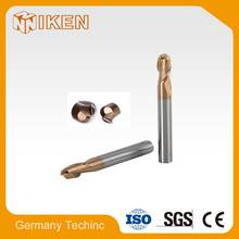 Solid carbide spherical 2 or 4 flute endmill for D2 toolsteel