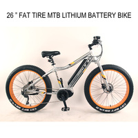 "26"" Alloy MTB frame lithium battery bike W/disc brake"