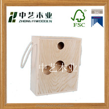 pine wood natural wholesale unfinished antique custom cheap 3 bottle wooden wine box,wine wooden box