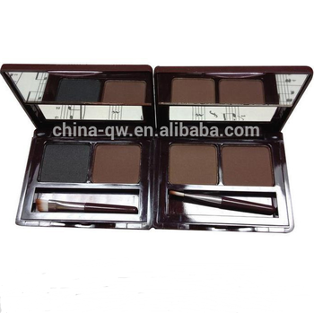 Menow E12002 Cosmetic two colors in one real color eyebrow powder