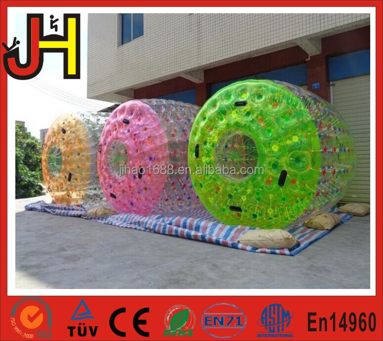 Colorful Inflatable Water Rolling , Water Roller Ball Price for Sale