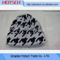 Acrylic wholesale girls' beanie hats with top ball