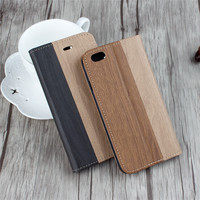 Wood Grain PU Leather Wallet Case Flip Back Cover for Coolpad Note 3 with Credit Card Holder Slot